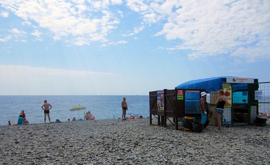 Пляж в Южной Озереевке