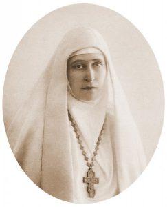 Княгиня Елизавета Федоровна Романова в Марфо-Мариинской обители в Москве.