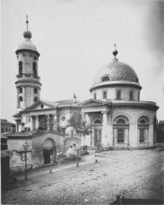Дореволюционная фотография церкви Всех скорбящих Радость