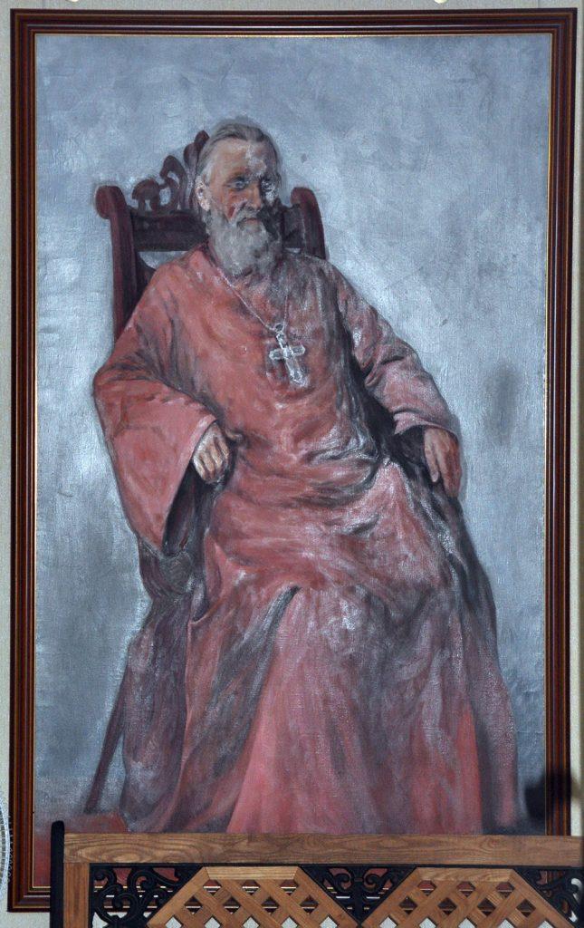 Портрет отца Иоанна Кронштадтского в мемориальной квартире в Кронштадте.