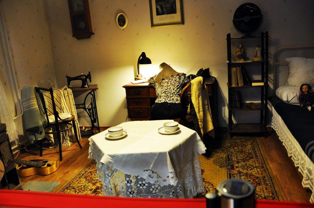 Блокадная комната в музее истории Кронштадта в Кронштадте