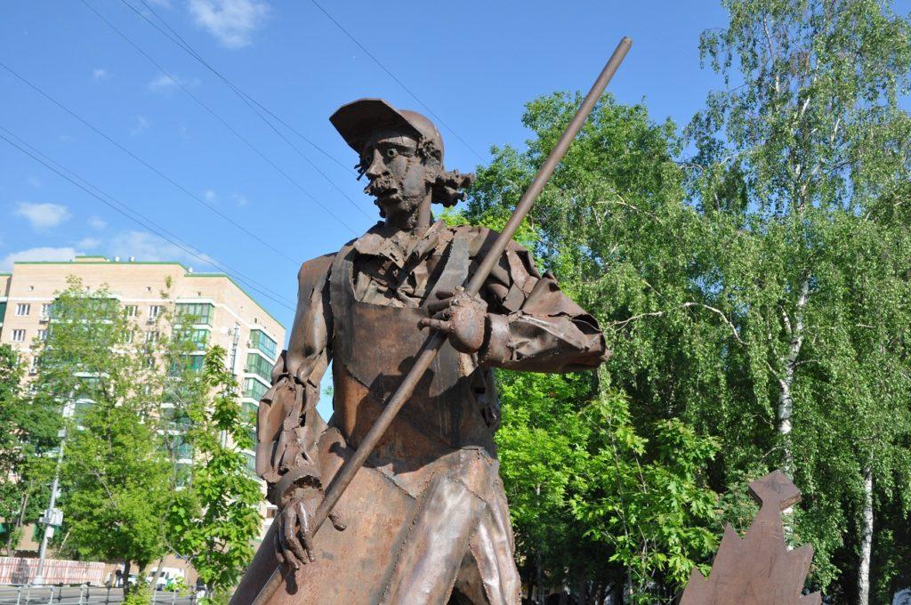 Ростокино. Парк АКведук. Памятник дворнику