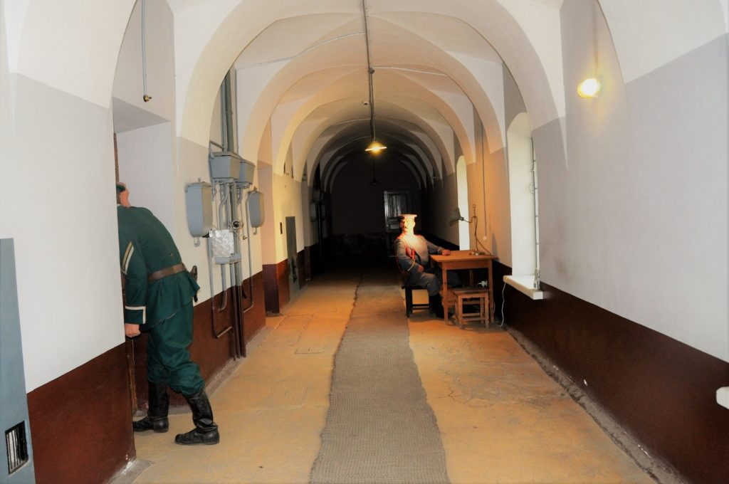 Тюрьма Трубецкого бастиона. Коридор 1-го этажа.